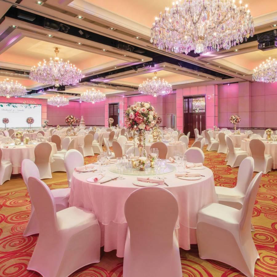 Ballroom with blossom theme